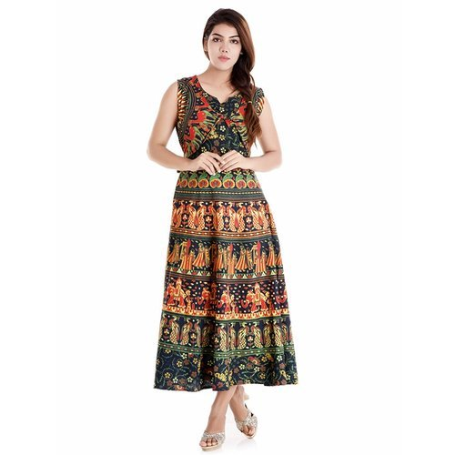 5fe1c84d6caade Women Cotton Green Middy Dress, Rs 215 /piece, Star Product | ID ...