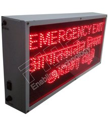 Fine Emergency Exit Sign 4016-Appathakalin Nikas Avasara Vali With Battery Backup-Red