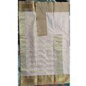 Ladies Chanderi Plain Cotton Saree