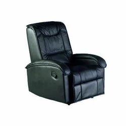 Comfort Leather Sit Back Black Sofa