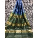 Party Wear Zari Border Tussar Silk Saree, 6.3 m (with blouse piece), Packaging Type: Packet