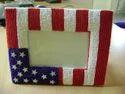 Flag Design Beaded Photo Frame