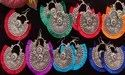 Oxidised Tassel Chandbali Earrings - Navratri Garba Special