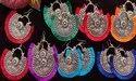 Oxidised Tassel Chandbali Earrings - Navratri Garba Special