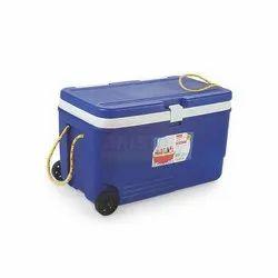 Blue 60 Liter Insulated Ice Box