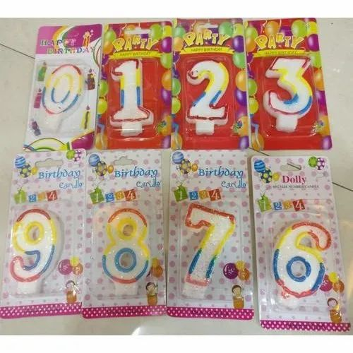 Arabic Numeral Birthday Party Candle