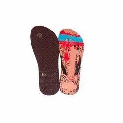 Multicolor Daily Wear Ladies Printed EVA Slipper, Size: 4-12 US