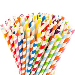 Coloured 8 mm Paper straws