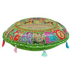 Embroidered Floor Cushion Cover