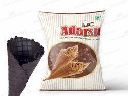ADARSH PREMIUM WAFFLE CONE PREMIX, Chocolate, Packaging Type: Packets