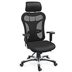 Black Polyester Mesh Office Revolving Chair