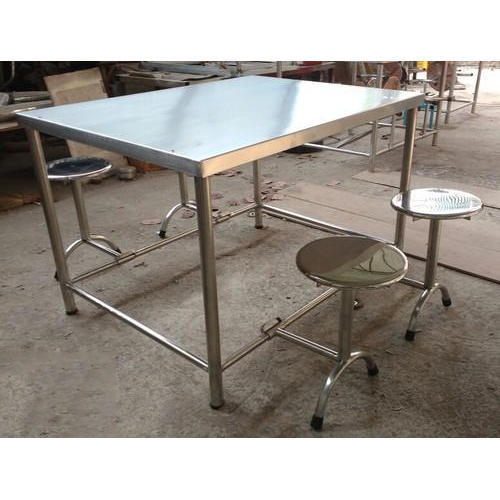4 Seater Canteen Table