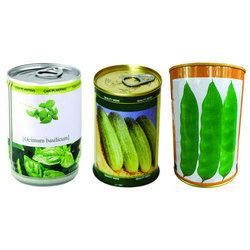 Seeds Tin Container