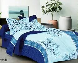 Floral Printed Bed Sheets Cotton Printed Bed Sheet, Size: 87 X 108