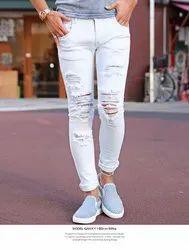 White Damage Jeans