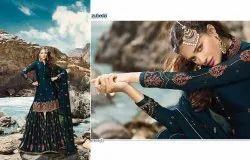 Zubeda Present Kaaynaat Satin Georgette Sharara Style Salwar Kameez