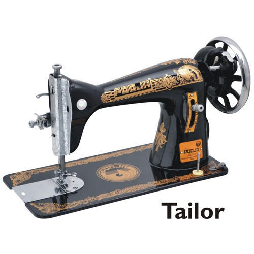 pooja tailor black manual sewing machine for household rs 3850