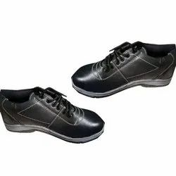 Black Laces Mens PVC Sole Leather Shoes, Size: 6-12, Packaging Type: Box