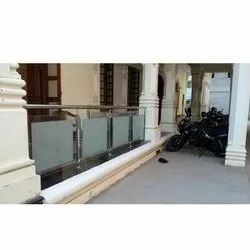 SS Frosted Glass Railing
