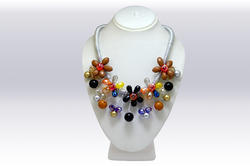 UmangNx Multi Color Imported Beeds Work Necklace
