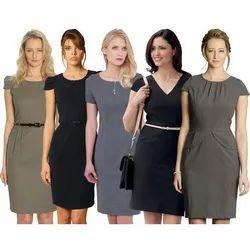 Women Cotton Ladies Corporate Uniform, Size: M-XXL
