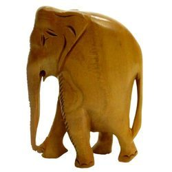 wooden plain elephant