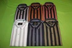 Garacia Black Striped Casual Shirts
