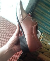 Men Brown Leather Shoes