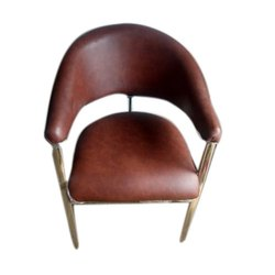 Modern Brown Designer Sofa Chairs, Back Style: Tight Back