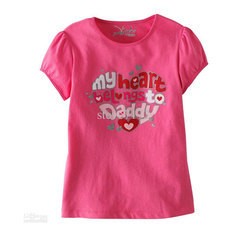 Cotton/Linen M And L Girls Printed Casual T-shirt