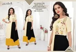 Rachna Rayon Delicated Embroidery Work Radiant Catalog Kurti For Women 2
