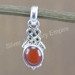 New Jewelry 925 Sterling Silver Coraline Gemstone Pendant