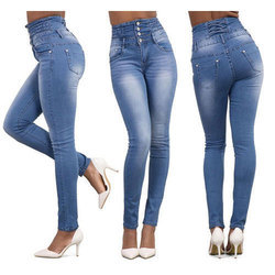 Ladies Blue Jeans, Waist Size: 26