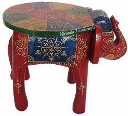 Meena Kari Wooden Elephant Table