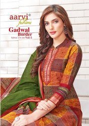 Aarvi Gadwal Border Vol-5 Printed Cotton Salwar Suit Catalog Collection