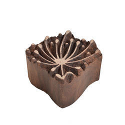Floral Pattern Wooden Flower Printing Blocks