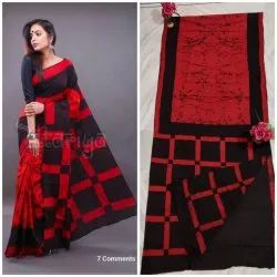 Designer Cotton Mulmul Saree