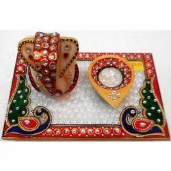 Marble Chowki with Ganesh