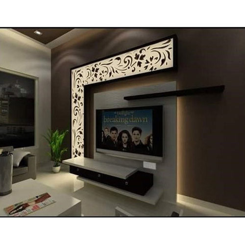 Wooden Wall Units For Living Room: Wood Frame Modern TV Wall Unit, Rs 950 /square Feet, Art