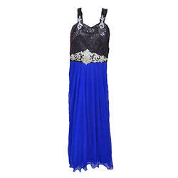 4c9caa67c38b Blue And Black Party Wear Kids Gown