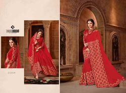 Indian Women Red Color Georgette Saree