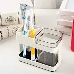 1 Cup Toothbrush Toothpaste Double Holder Stand