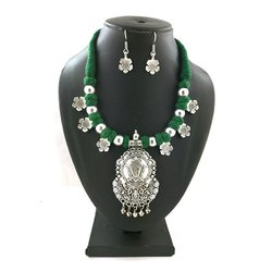 Oxidized Thread Necklaces Set