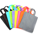 Colored Loop Handled Woven Carry Bag