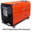5 Kva Portable Silent Petrol Generator, Voltage: 220 V