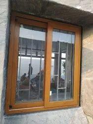 Wooden UPVC Window, Glass Thickness: 5mm