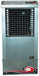 55 Ltr Portable Rocksun 15 Inch Metal Air Cooler, 170w, Dimension: 610x405x1270 Mm