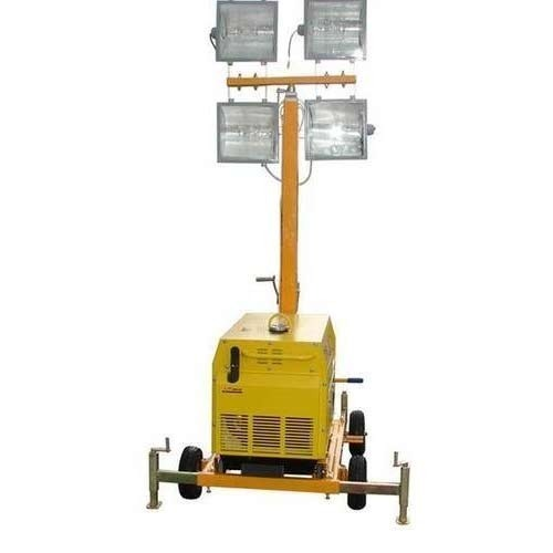 Portable Light Tower Price: LED Cool White Mobile Lighting Towers Without DG Set, Rs