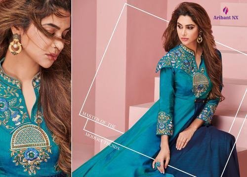 d937a3d80a Arihant Nx Floret Vol-4 Series 2021-2028 Stylish Party Wear Soft Silk Kurti