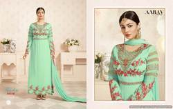 Designer Georgette Green Color Anarakali Suit